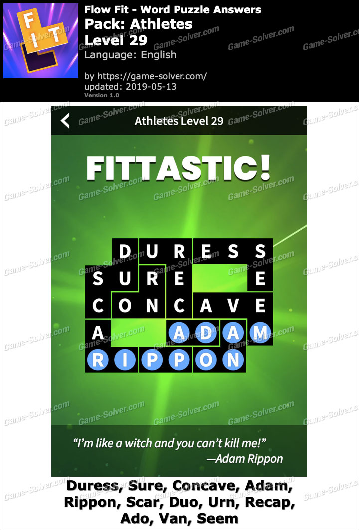 Flow Fit Athletes-Level 29 Answers