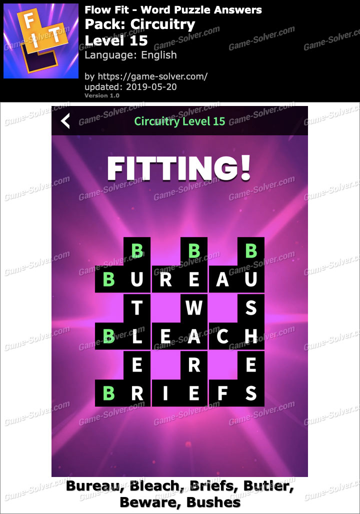 Flow Fit Circuitry-Level 15 Answers