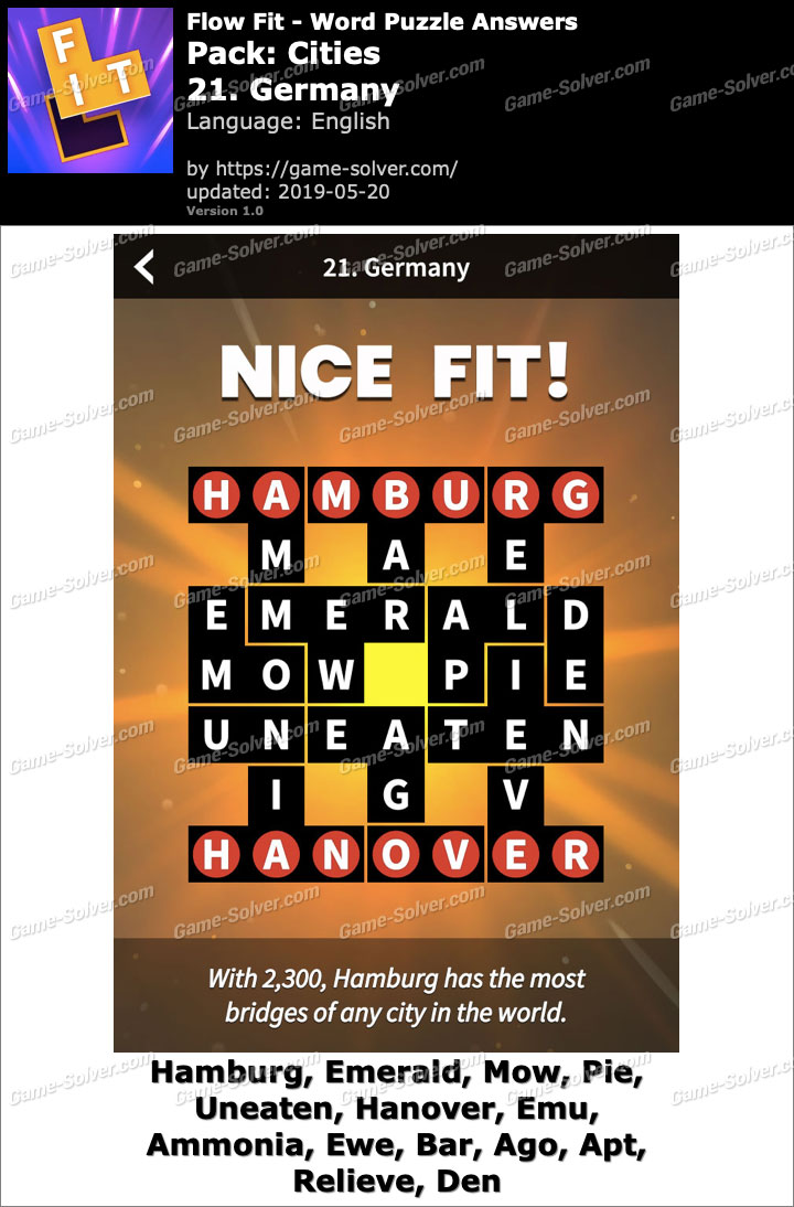 Flow Fit Cities-21 Germany Answers