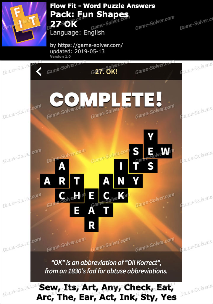 Flow Fit Fun Shapes-27 OK Answers