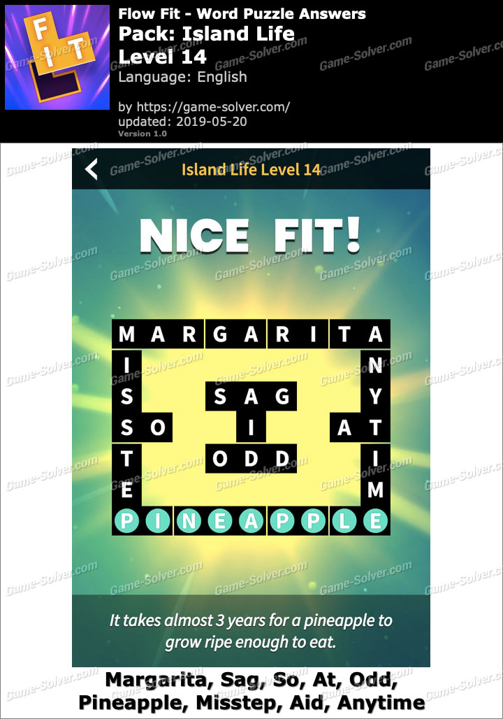 Flow Fit Island Life-Level 14 Answers