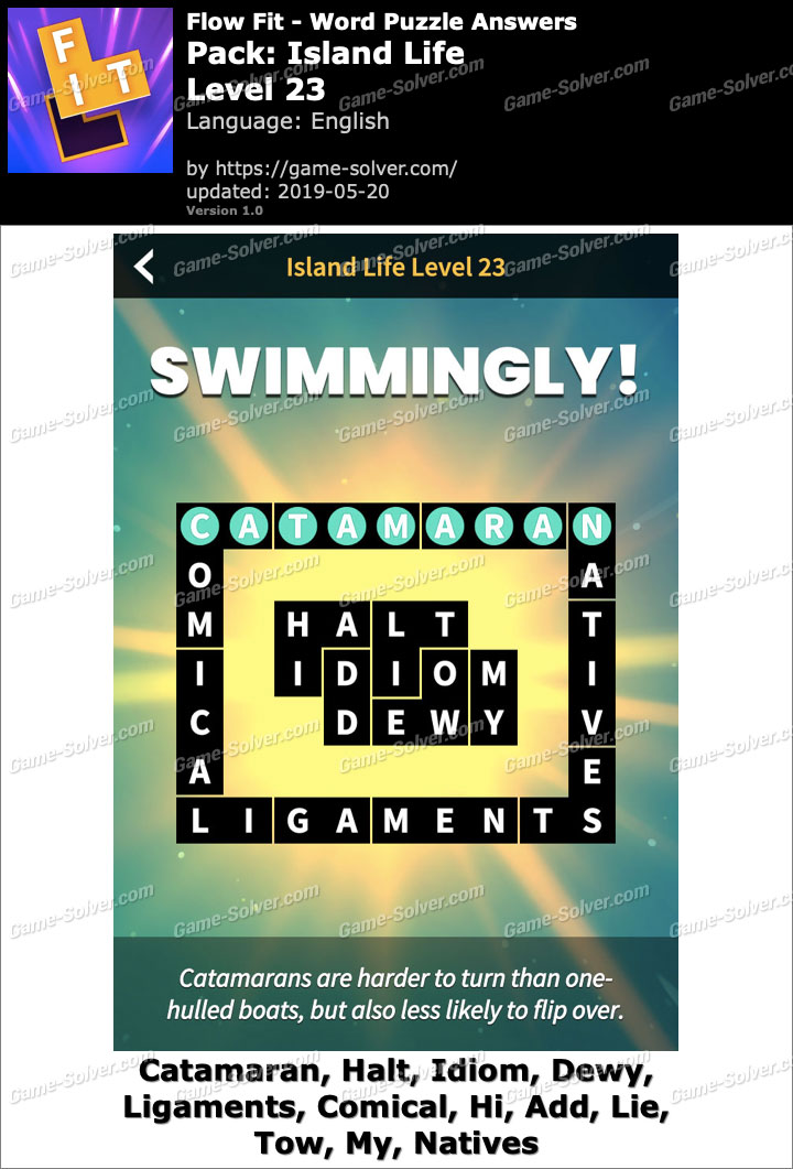 Flow Fit Island Life-Level 23 Answers