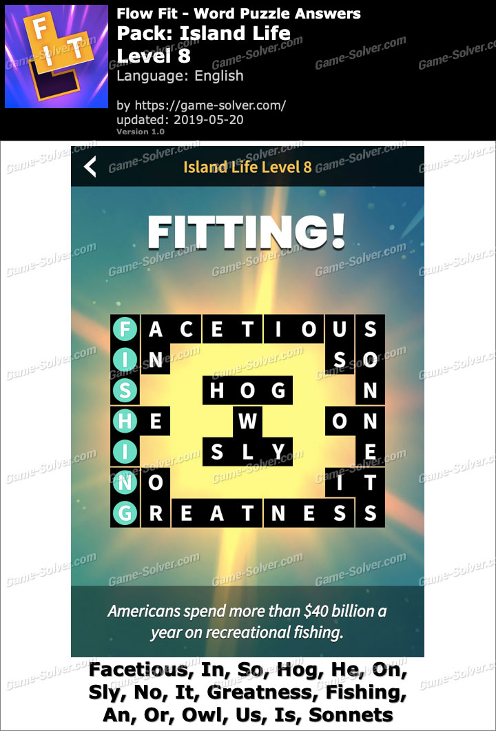 Flow Fit Island Life-Level 8 Answers