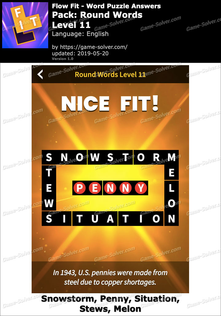 Flow Fit Round Words-Level 11 Answers