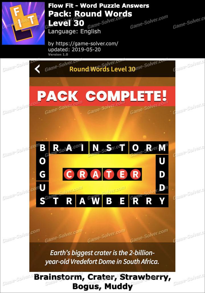 Flow Fit Round Words-Level 30 Answers