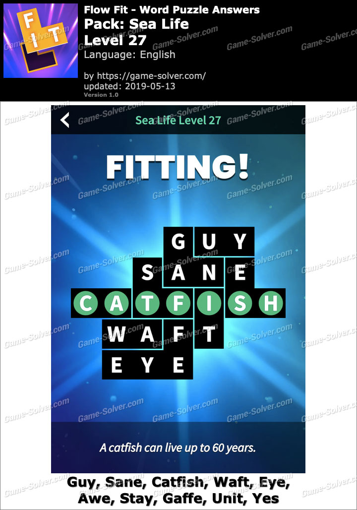 Flow Fit Sea Life-Level 27 Answers