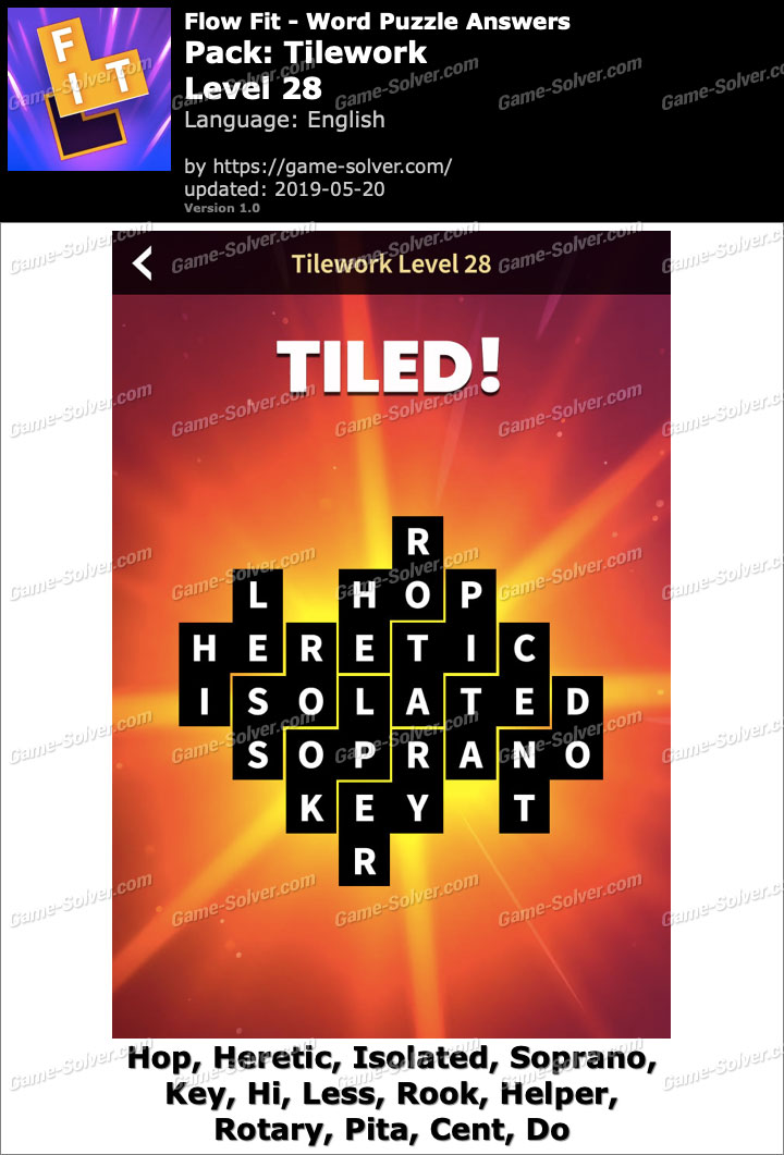 Flow Fit Tilework-Level 28 Answers