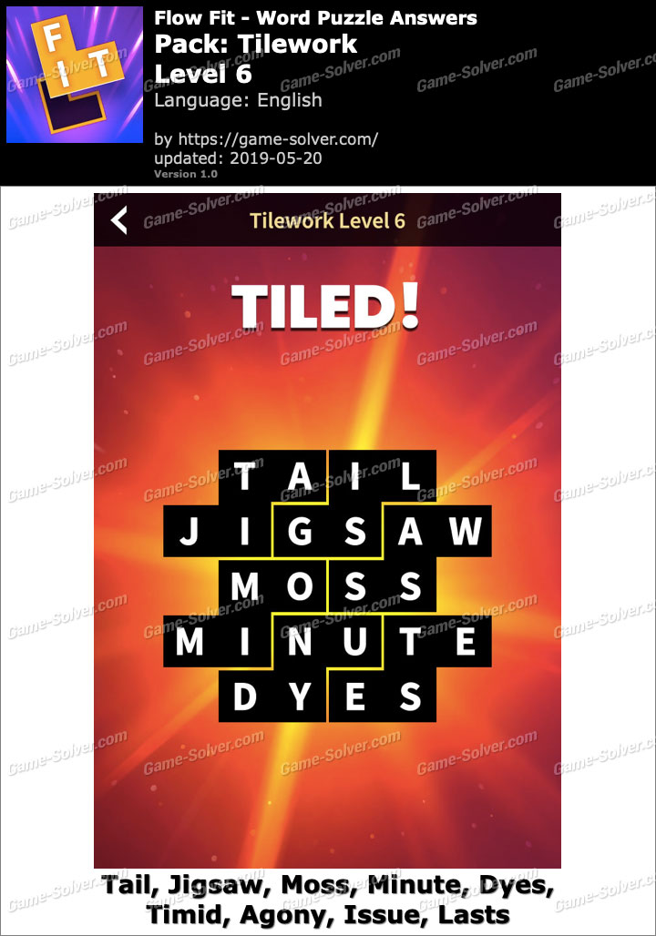 Flow Fit Tilework-Level 6 Answers