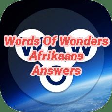 Words Of Wonders Answers Afrikaans