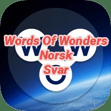 Words Of Wonders Crossword Answers Norwegian