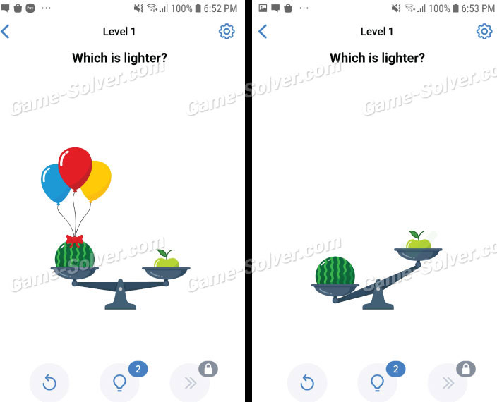 Easy Game Level 1 Which is lighter?