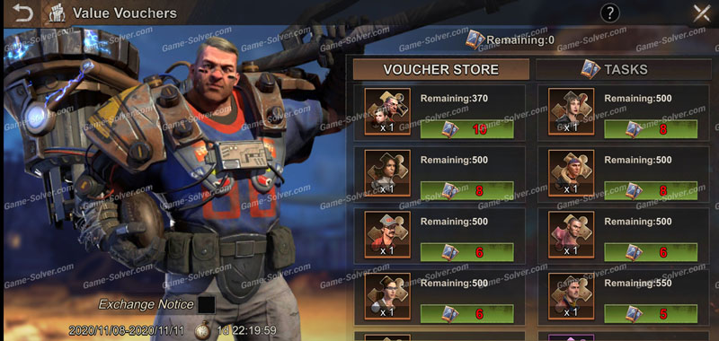 State of Survival Value Vouchers Event