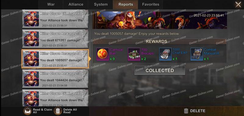 State of Survival Killer Clown Reward