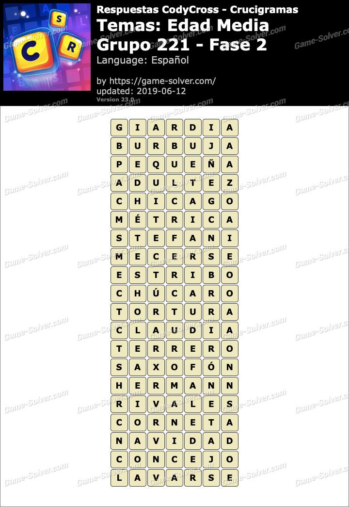 Respuestas CodyCross Edad Media Grupo 221-Fase 2
