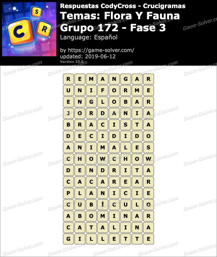 Respuestas CodyCross Flora y Fauna Grupo 172-Fase 3