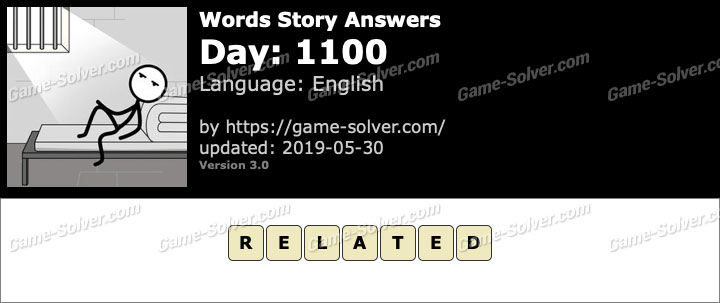 Words Story Day 1100 Answers