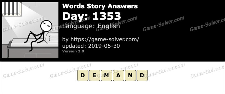 Words Story Day 1353 Answers