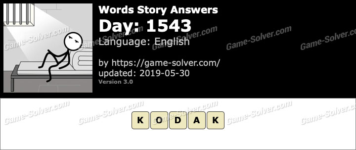 Words Story Day 1543 Answers