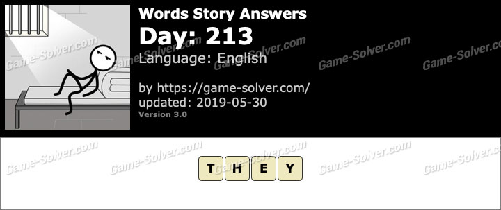 Words Story Day 213 Answers