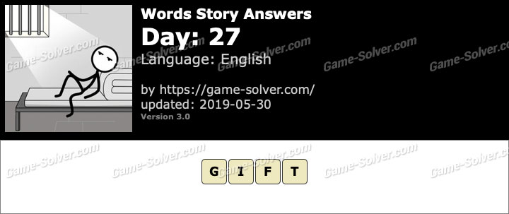Words Story Day 27 Answers