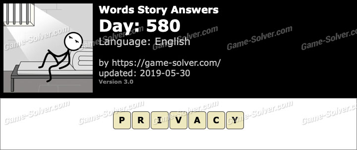 Words Story Day 580 Answers