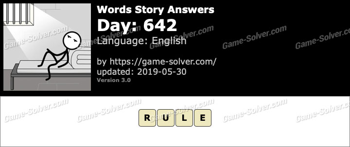 Words Story Day 642 Answers