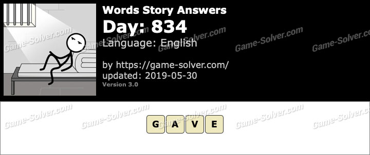 Words Story Day 834 Answers