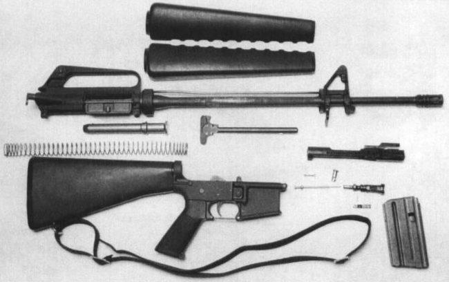 винтовка AR в разборе