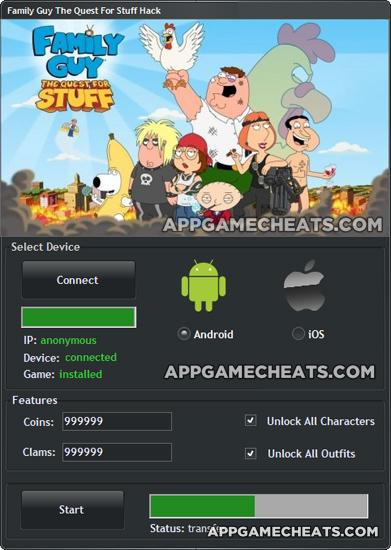 Family Guy Quest For Stuff Hack Android : family, quest, stuff, android, Family, Quest, Stuff, Coins, Clams, 2016_comprehensive