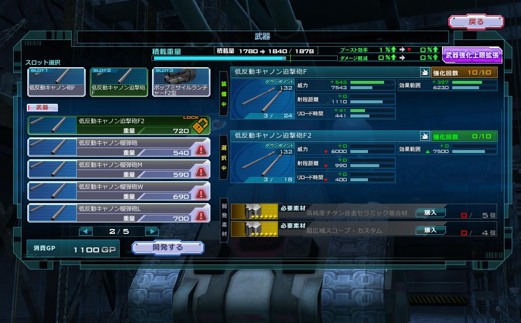 ガンオン:Ver.ZZ:迫撃運用の最強砲撃機体って