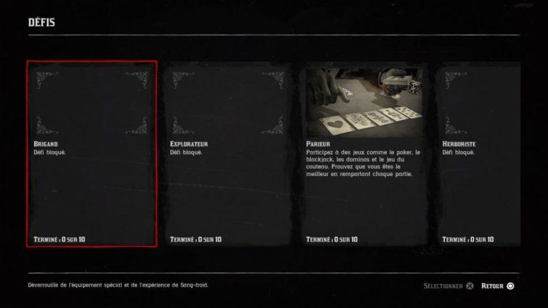 liste des défis, comment débloquer les défis, red dead redemption 2, red dead, rockstar games , jeux vidéo, soluce