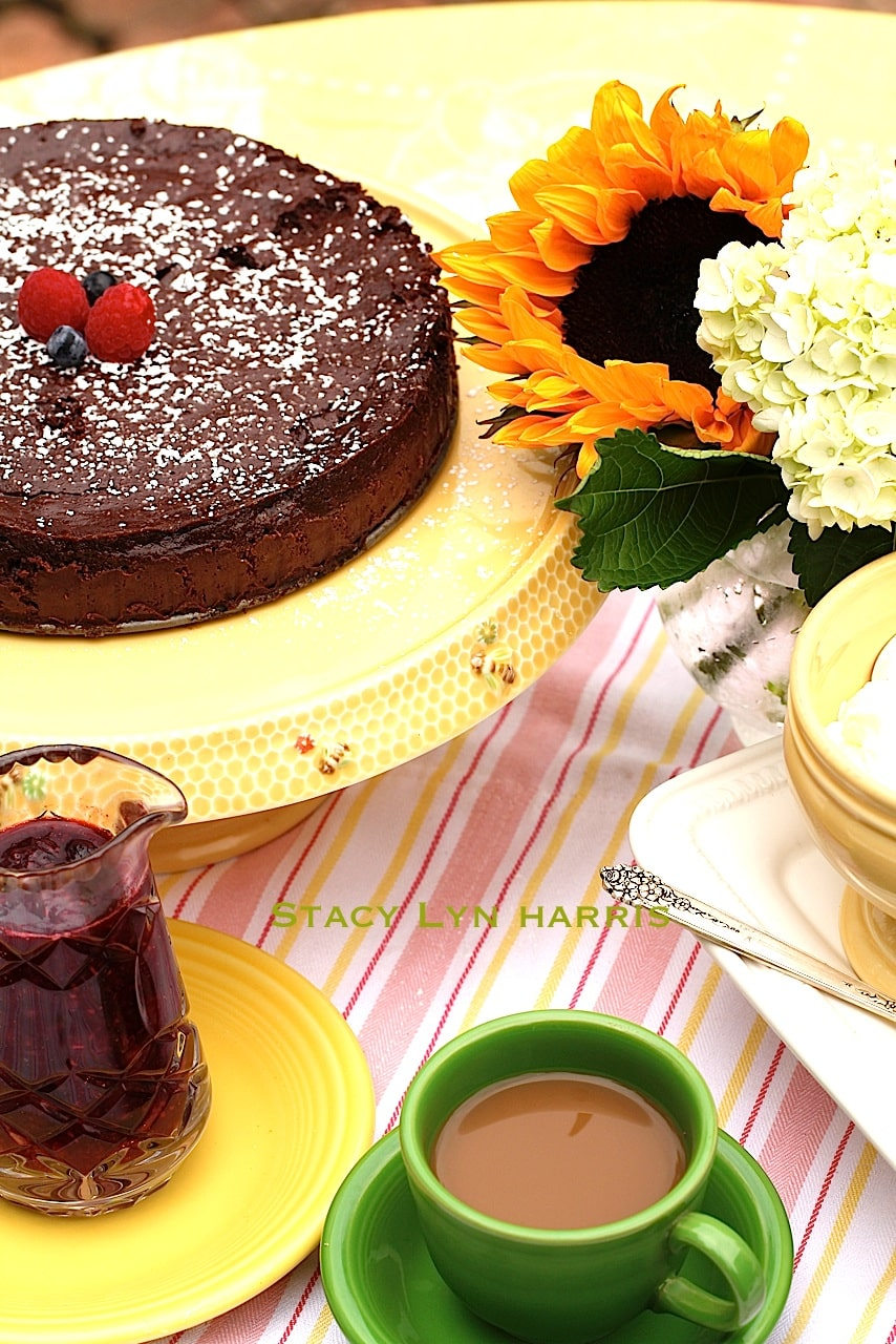 Nothing better than flour less chocolate cake. The texture is amazing and goes perfectly with the intoxicating chocolate!