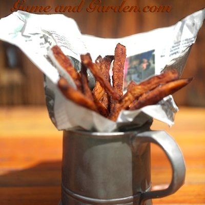 "Healthier Crispier ""Baked"" Sweet Potato Fries"