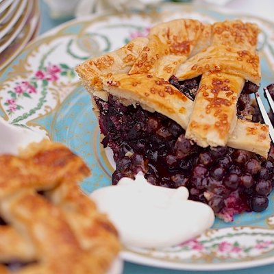 Southern Wild Blueberry Pie…Yummmm
