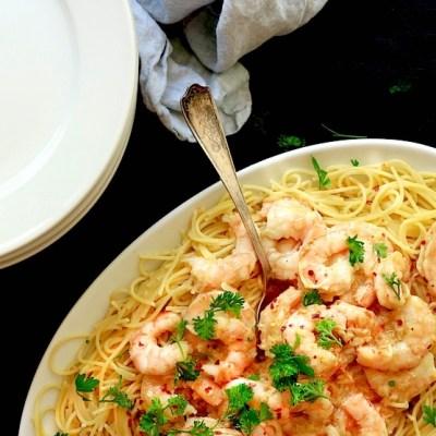 Garlicky Shrimp Scampi Recipe