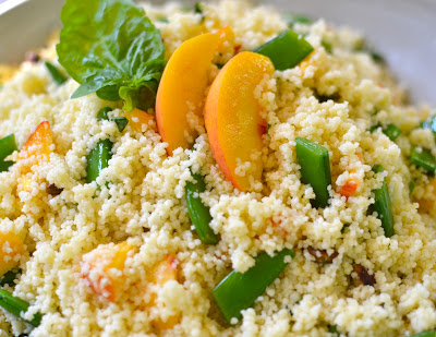 Fresh Peach and Couscous