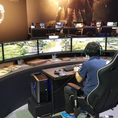 Best Chair For Console Gaming Tall Office Chairs Standing Desks Insane Pc Setup Spotted At Tokyo Game Show - Gameaxis
