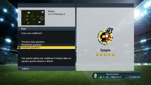Movimenti giocatori Spagna - FIFA 14