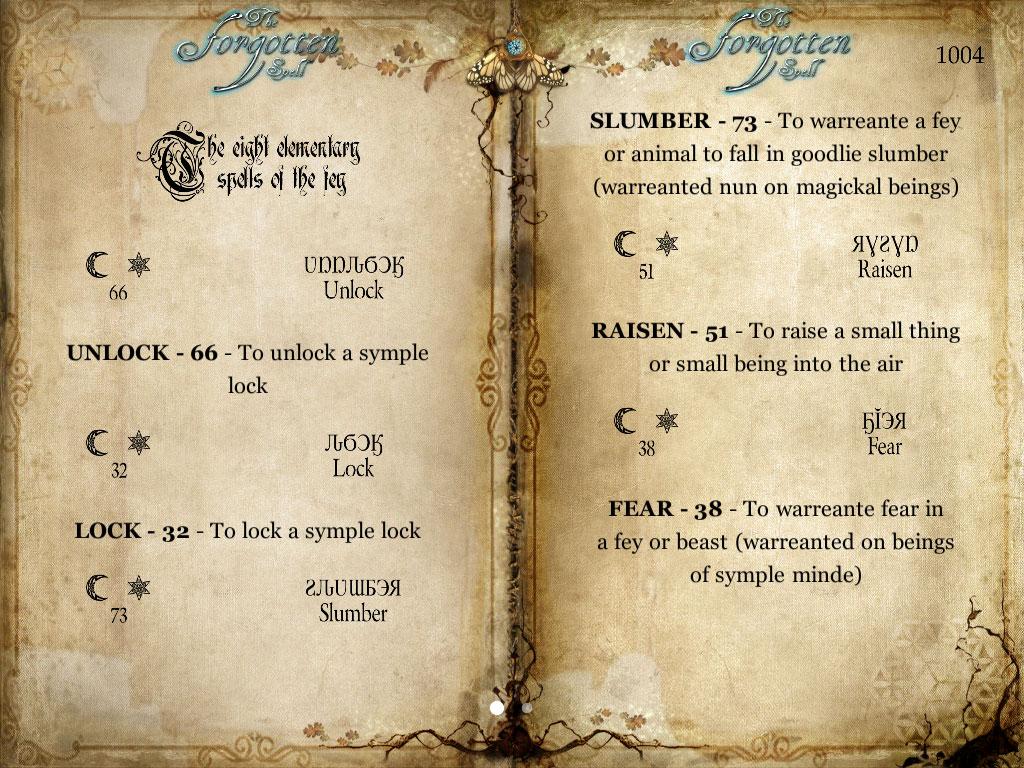 the forgotten spell gamebook