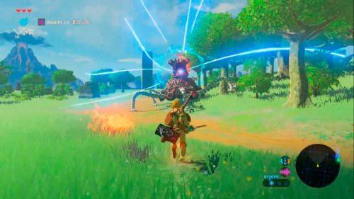 геймплей The Legend of Zelda: Breath of the Wild на Nintendo Switch