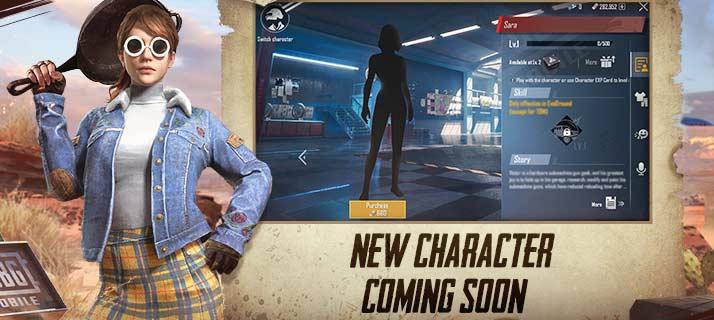 Новый персонаж САРА в PUBG Mobile