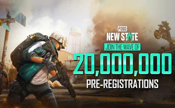 PUBG NEW STATE 20 миллионов предварительных регистраций.
