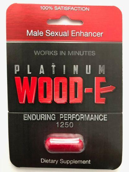 Platinum Wood E male enhancement single count blister pack