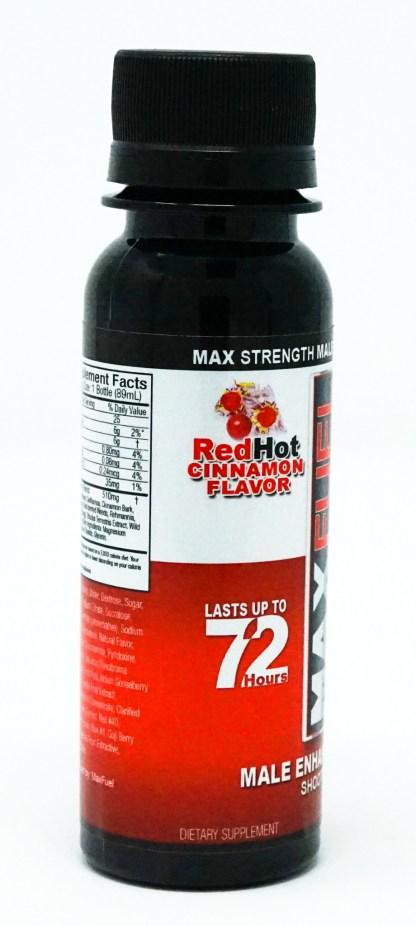 Manfuel shooter bottle in Red Hot Cinnamon flavor