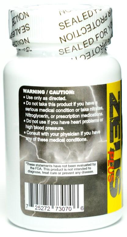 Zeus Plus 1600 Bottle Warning Label