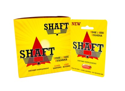 Shaft Male Enhancement Box and Pill