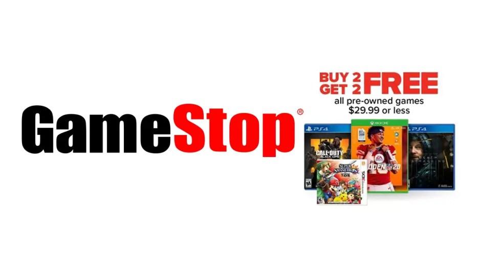 GameStop B2G2 pre-owned games sale