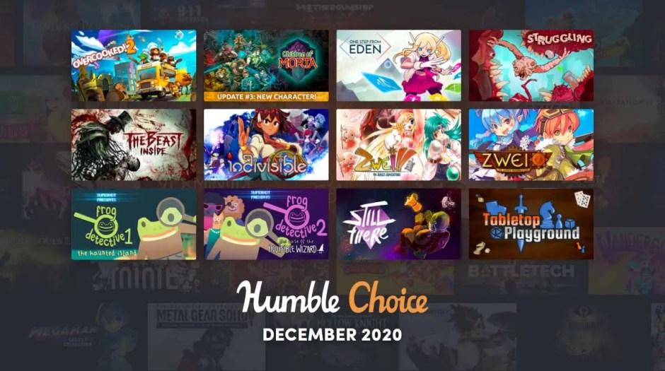 Humble Choice December 2020 lineup