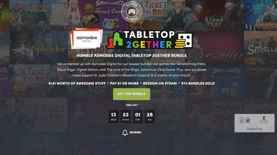 Humble Asmodee Tabletop 2gether Game Bundle