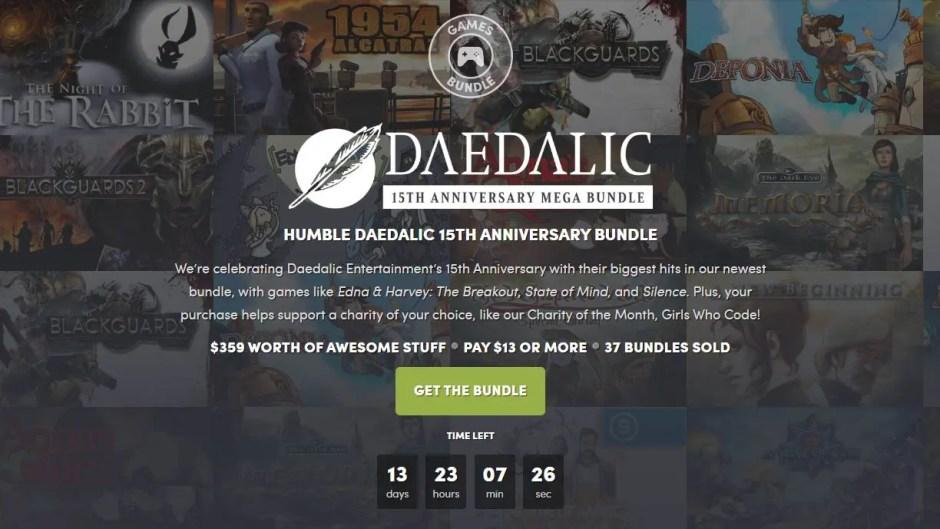 Humble Daedalic 15th Anniversary Mega Game Bundle